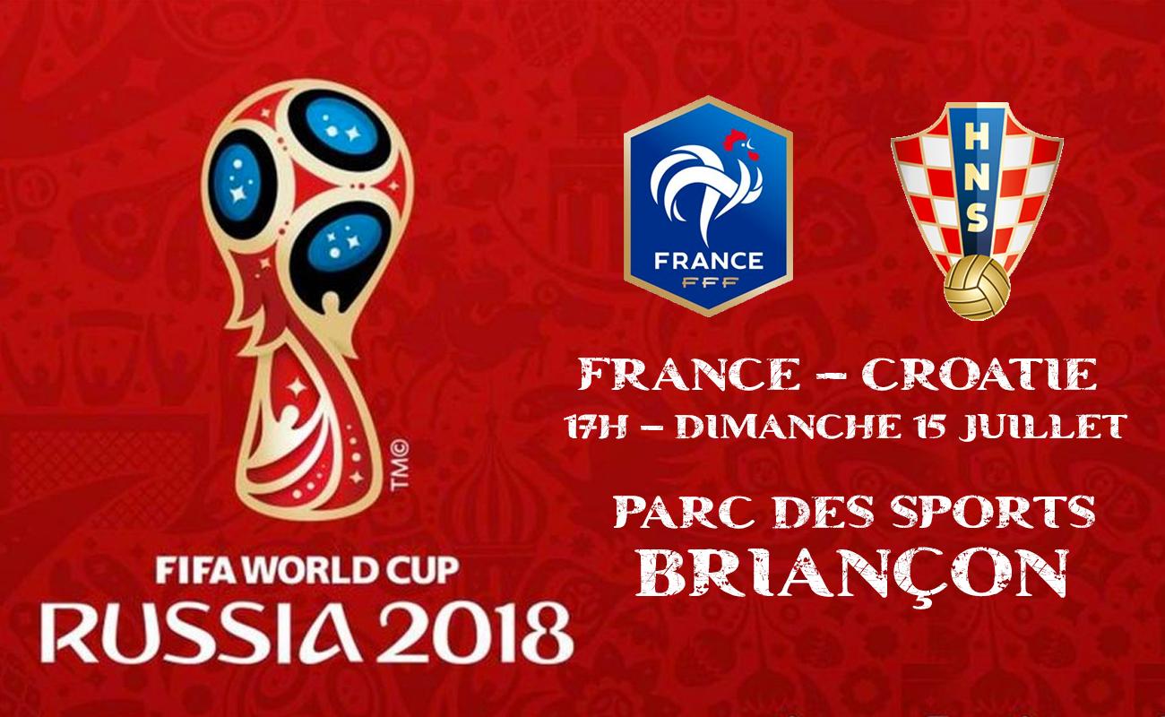 Projection de la finale de la Coupe du Monde de football 2018 France Croatie à Briançon.